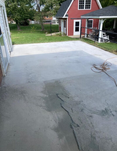 Image of the side carport while work is being done
