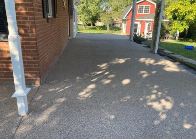 Image of the side carport after the epoxy is added