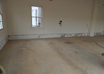 Before image of garage