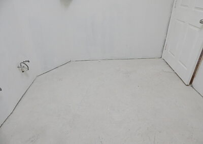 Image of bathroom floor before work