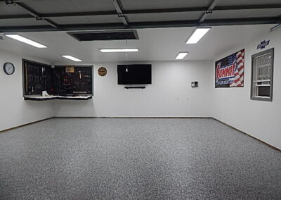 Image of the shop floor after the epoxy is added