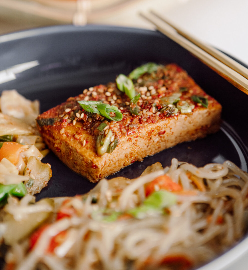 korean tofu bowl