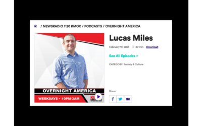 "FEATURED ON KMOX | Lucas Miles joins ""St. Louis host Ryan Wrecker to discuss his new book"""