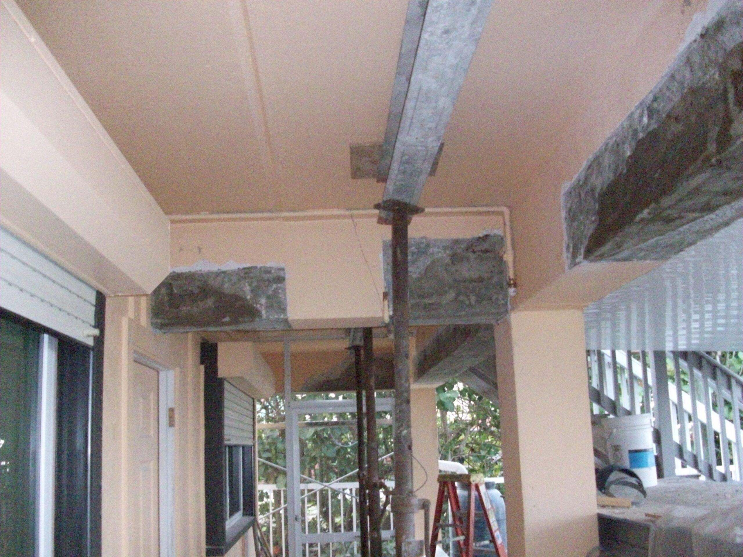 Picture of concrete beam and column repair