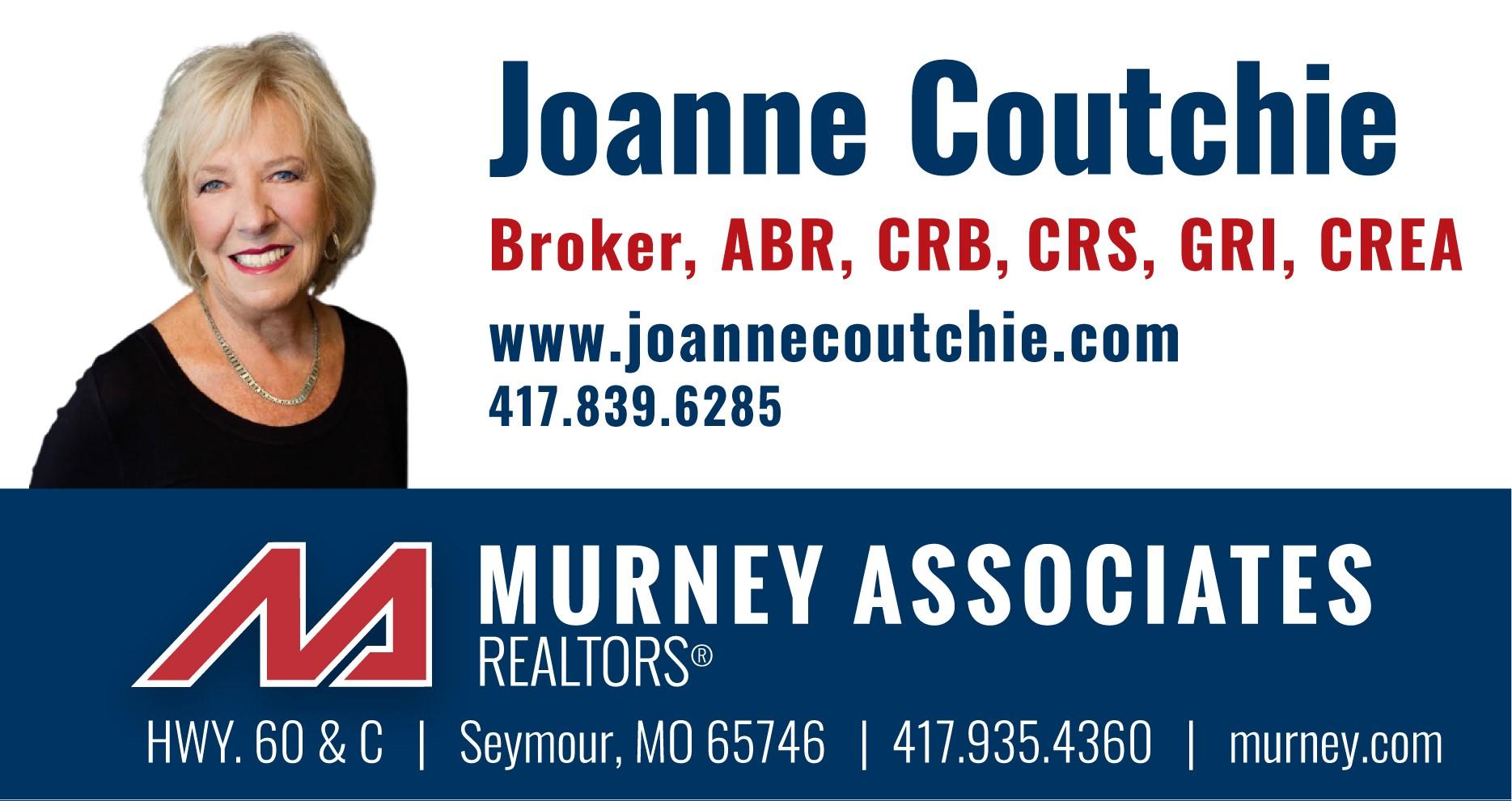Joanne Coutchie, Broker Suburban Office Murney & Associates REALTORS