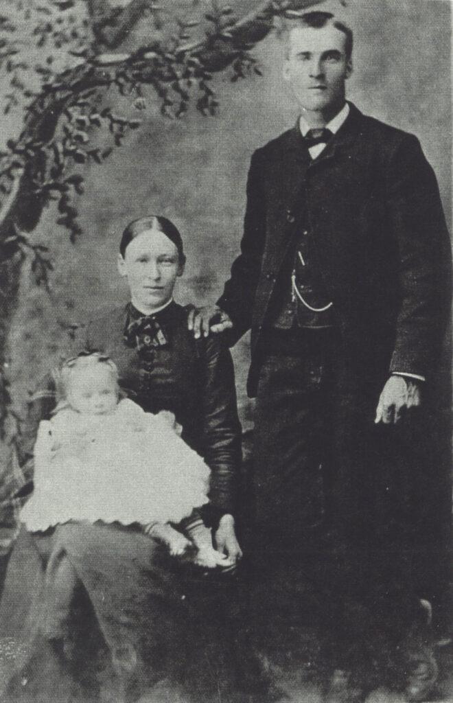 1886 Anson Bowen, Theresa, baby Ethel