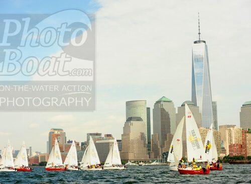 Sailboats and New York Skyline