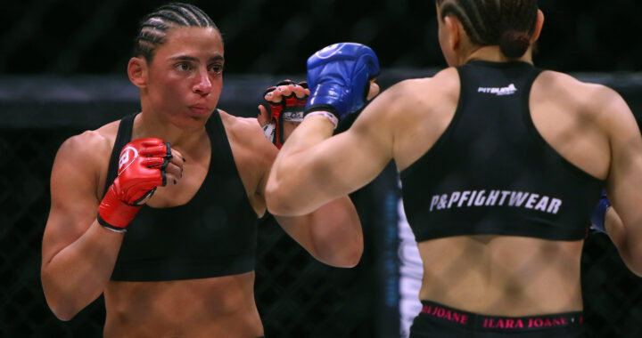 Women are here to stay in MMA: Vanessa Porto recently returned to the octagon against fellow Brazilian fighter Ilara Joanne at Bellator 263. Photo by Blanca Marisa Garcia