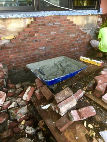 Brick Foundation, Sumner Street - E. Boston, MA
