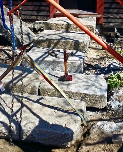 Granite Steps, Deane Winthrop House - Winthrop MA