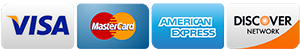 we accept all major credit card