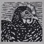 Day Hen (Woodcut)