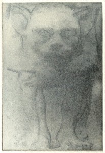 Under the Bed (solar plate etching)