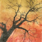 Winter Sunset (monotype, pronto plate lithograph)