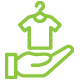 Donate thrift store goods icon