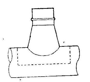 Conical Tee Saddle