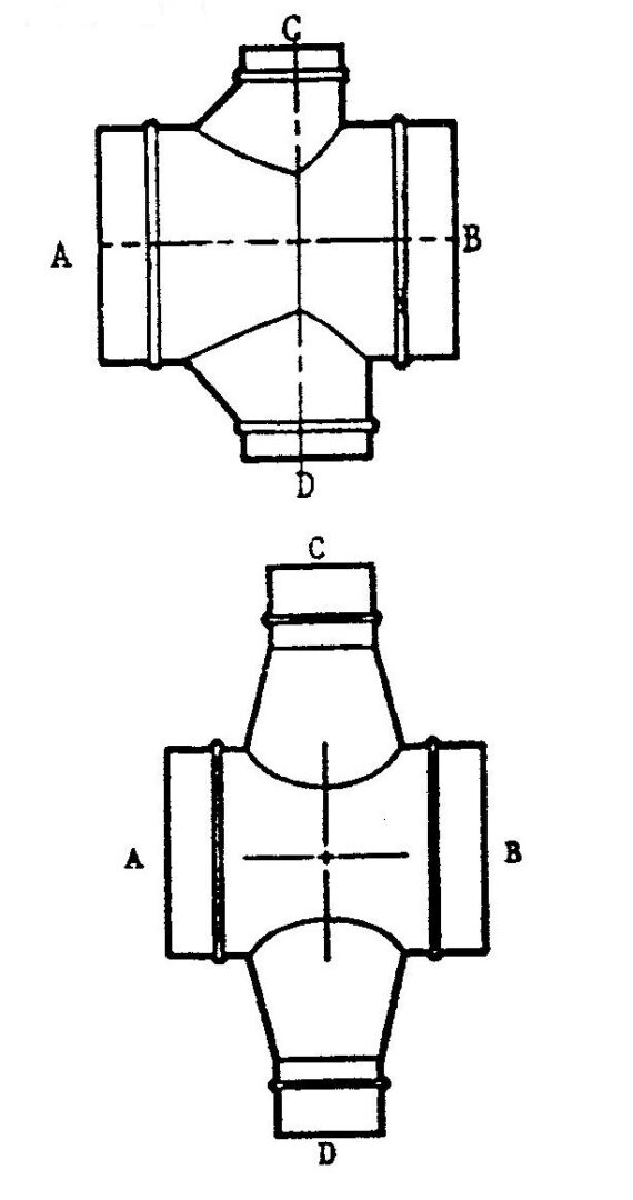 conical or boot double tee