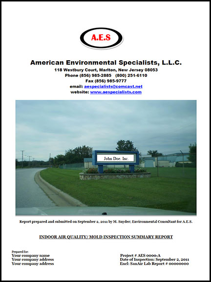 AES Sample Commercial Fungal Report