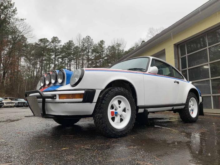 freshly cleaned Custom Built 1982 Porsche 911 SC with Brumos Livery Exterior and Porsche Tartan Interior