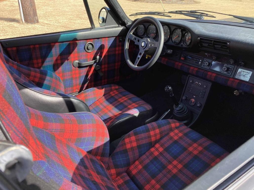 Custom Porsche Tartan Interior designed by Leh keen