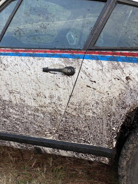 Custom Built 1982 Porsche 911 SC with Brumos Livery Exterior and Porsche Tartan Interior covered in mud