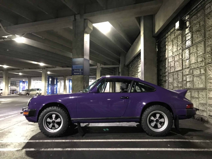 side view of a Custom Built 1978 Porsche 911 SC with Lilac exterior and Pascha interior