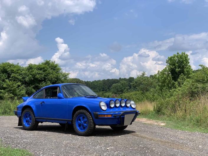Custom Built 1988 Porsche 911 Carrera in Acid Blue with Dog fabric interior