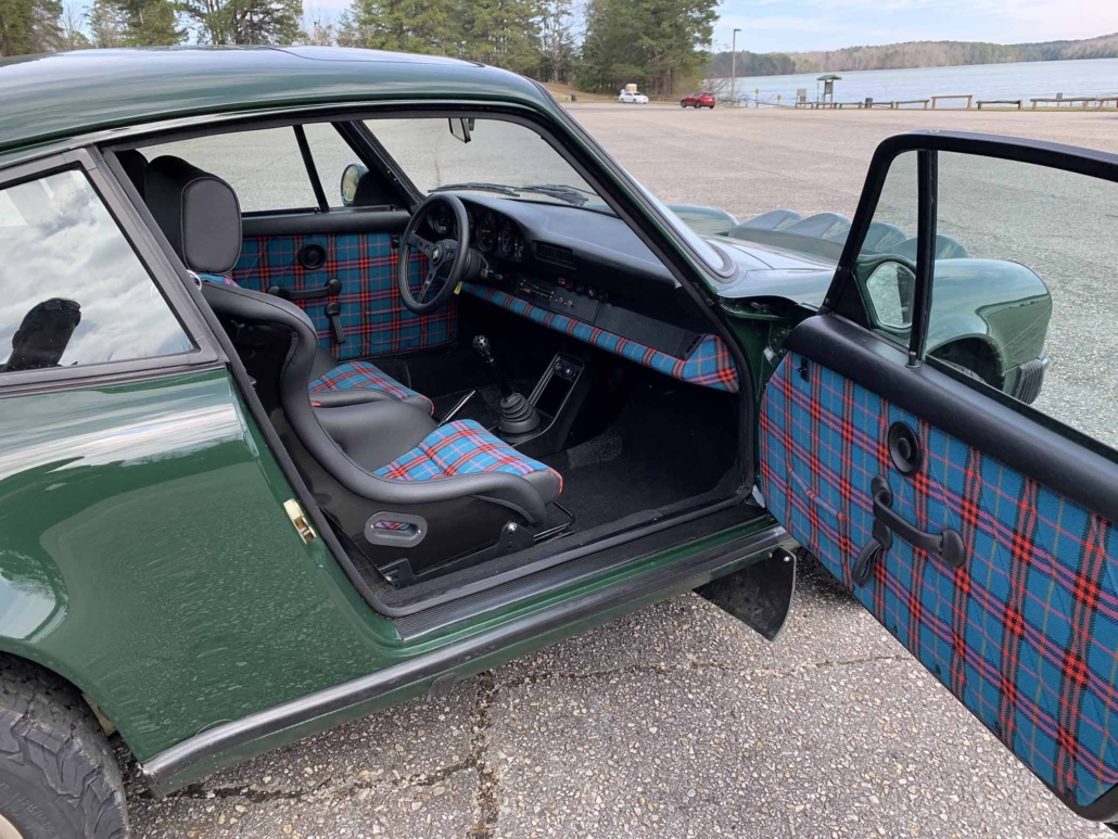 Custom built 1982 Porsche 911 SC in Irish Green with VW tartan interior