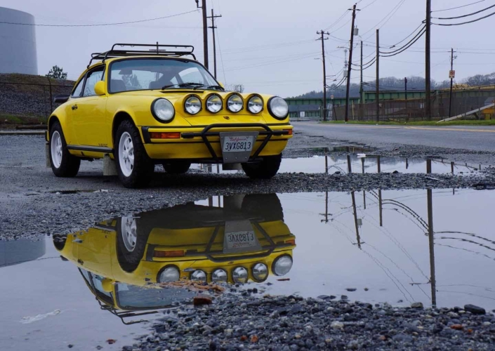 Custom Built 1988 Porsche 911 Carrera with Cadmium Yellow exterior and Opel fabric interior