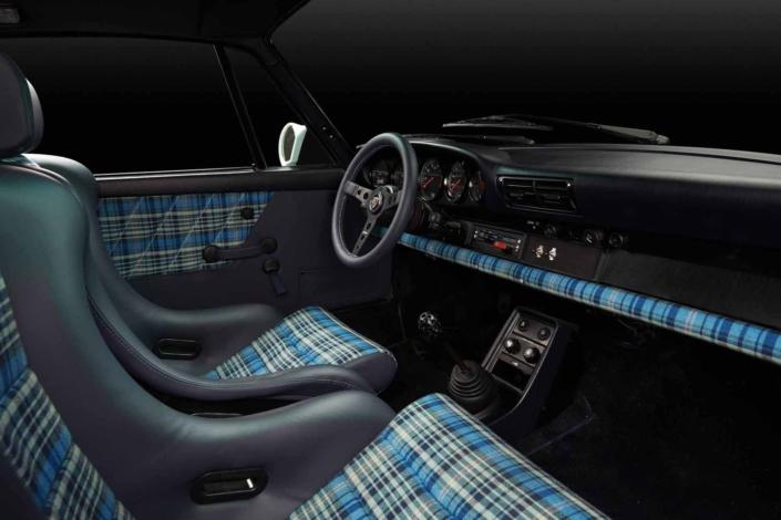 Porsche Tartan Interior on a custom built 1989 911 Carrera by Leh Keen