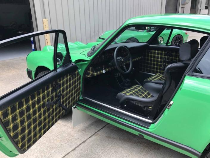 Custom Built 1981 Porsche 911 SC in Signal Green with Porsche Tartan Interior