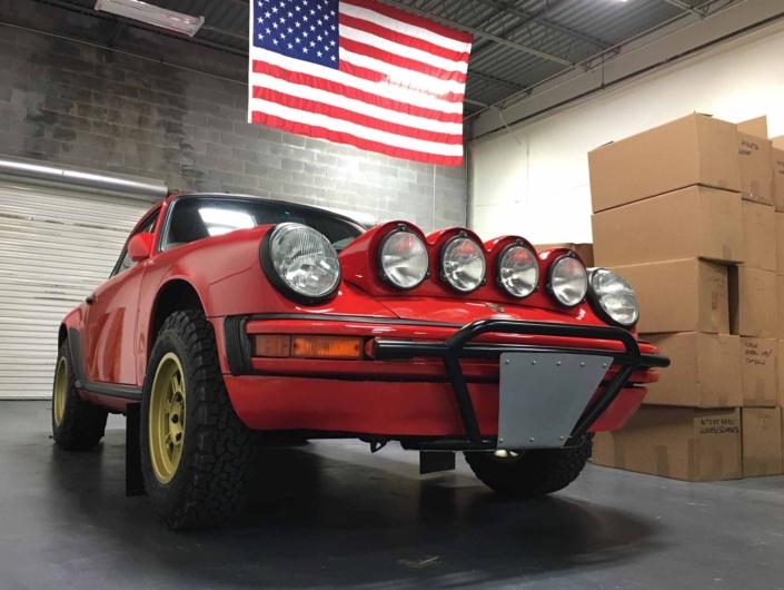 Custom Built 1986 Porsche 911 Carrera in Indian Red with Porsche Studiocheck Interior