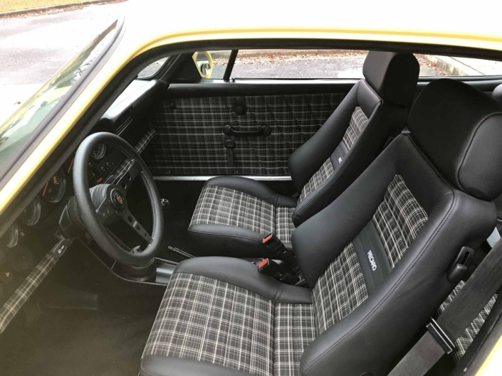 Custom Mercedes Tartan Interior on a 1984 Porsche 911 Carrera Euro by Leh Keen