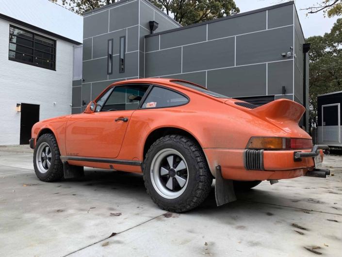 Custom built 1987 Porsche 911 Carrera with Continental Orange exterior and VW tartan interior