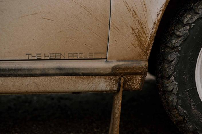panel view of Custom Built Carrera White 1989 911 Carrera with Porsche Tartan Interior