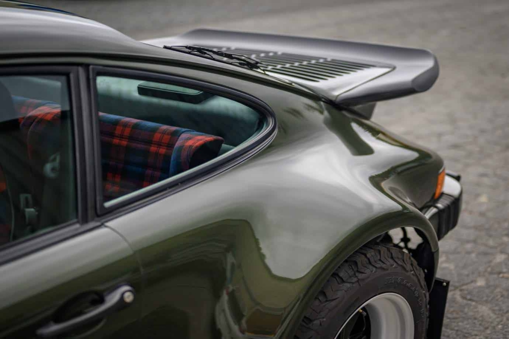 Custom Built 1986 Porsche 930 Turbo with Oak Green Metallic Exterior and Porsche tartan interior