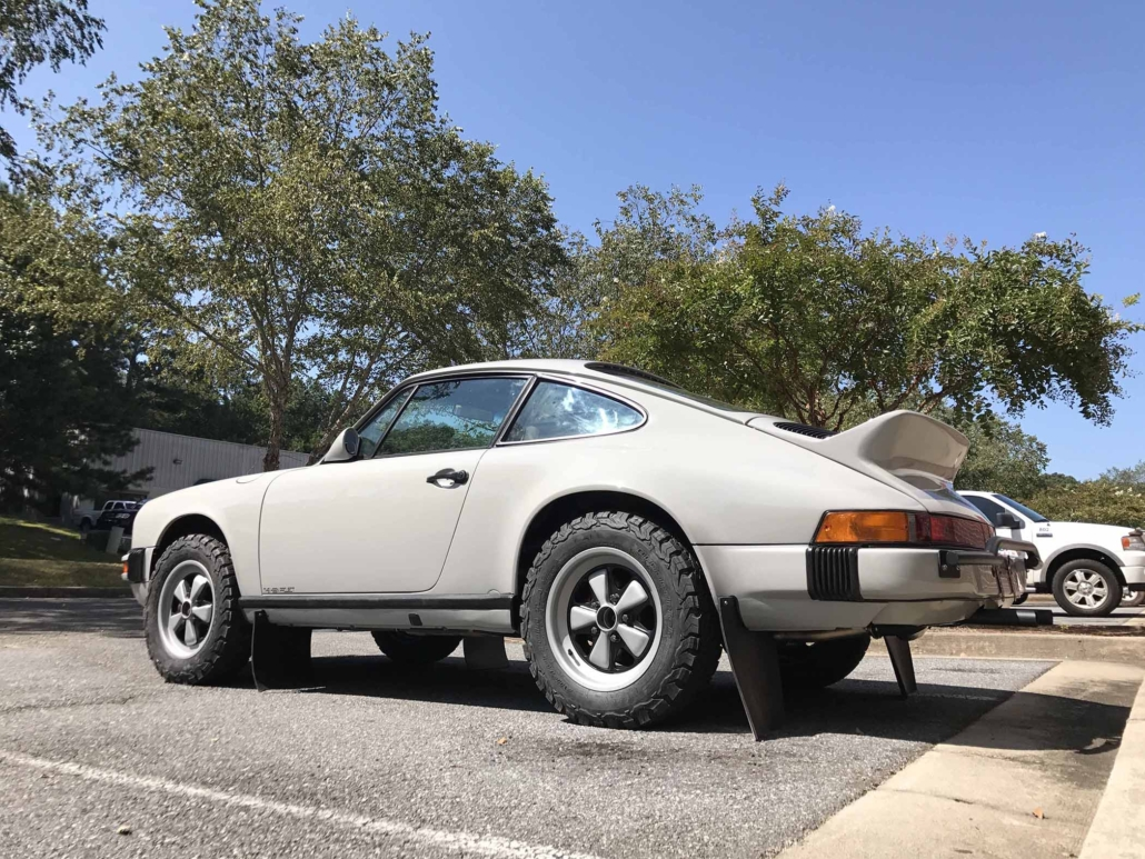 3/4 side view of a Custom Built 1986 Porsche 911 Carrera with Fashion Grey Exterior and Lancia Fabric Interior