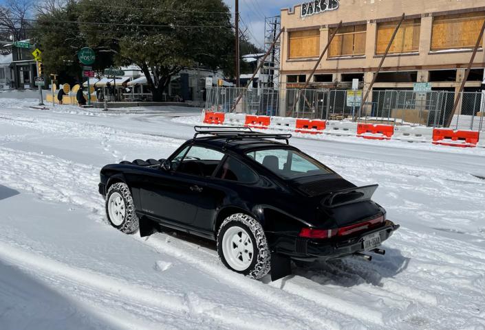 1986 Porsche 911 Carrera with Shwartz Exterior and Mercedes G Fabric Interior
