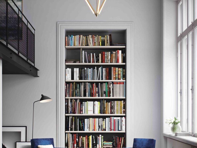 Bookshelf in a room