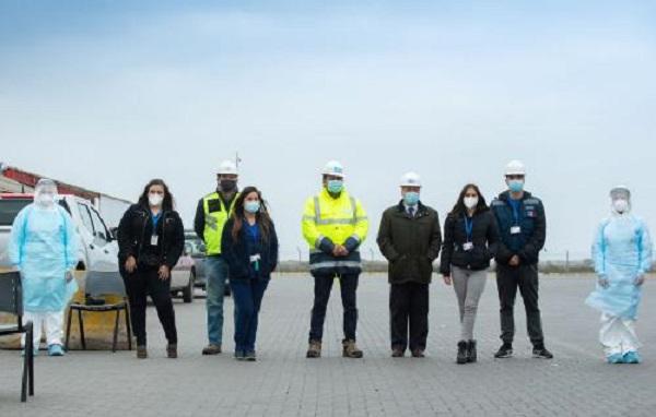Puerto San Antonio y organismos públicos realizaron exámenes PCR gratuitos a transportistas en el Nodo Logístico