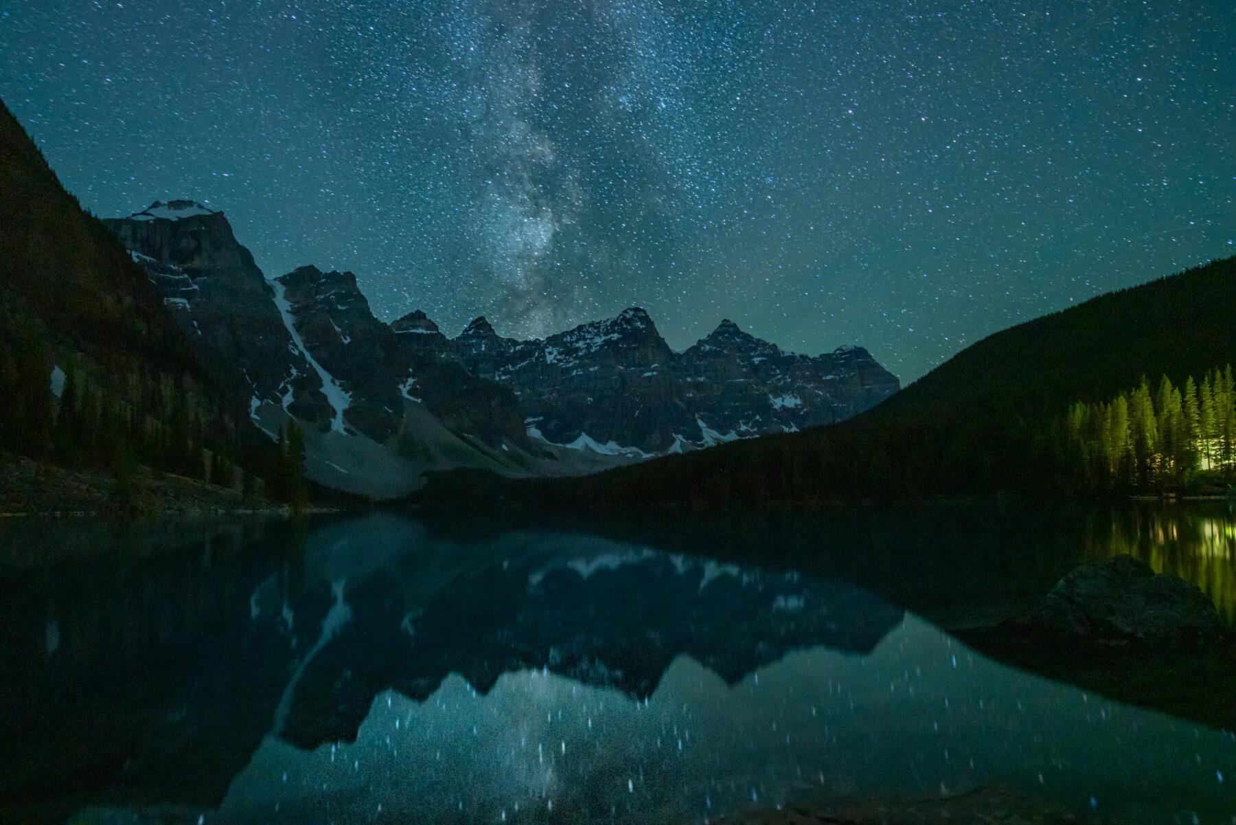 Milkyway over Moraine Lake