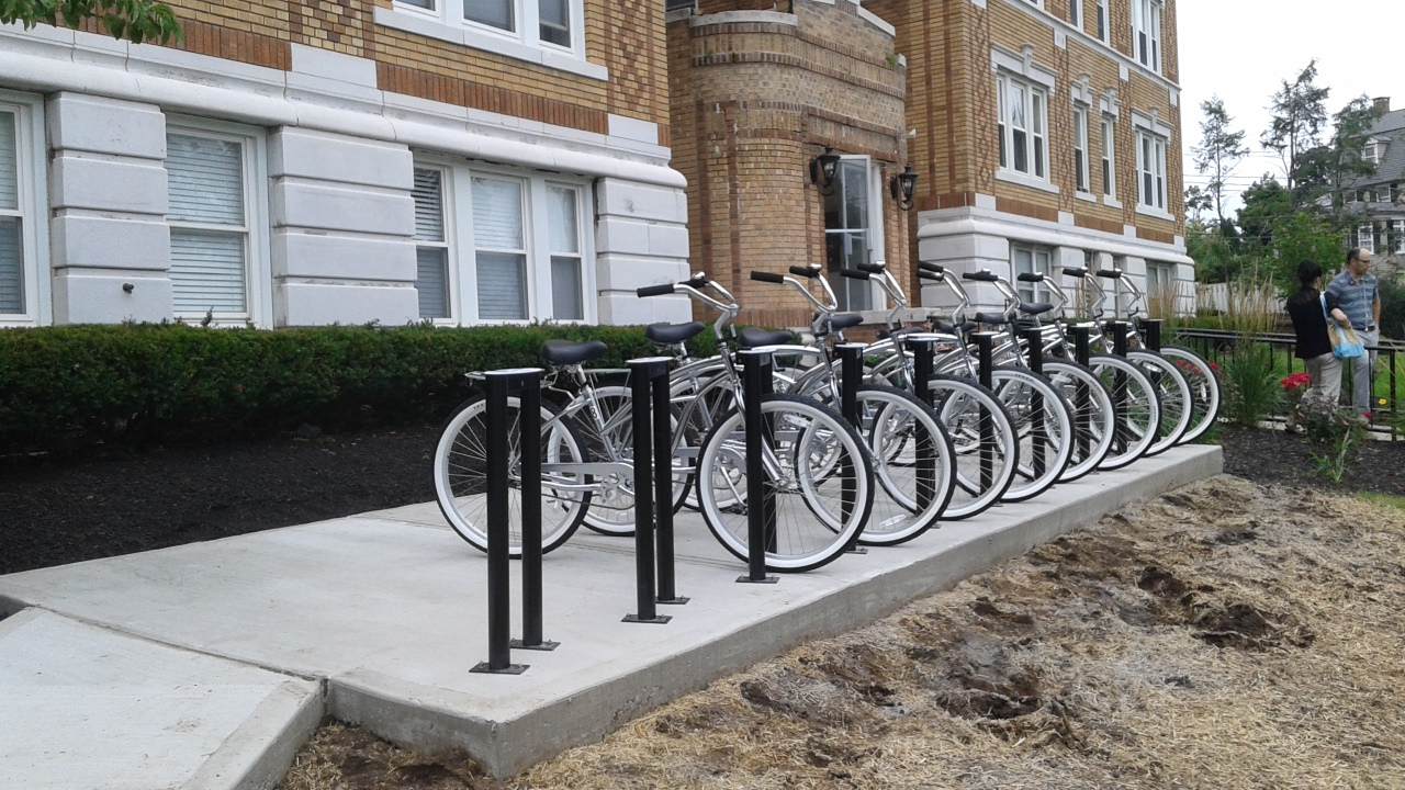 A bicycle fleet in a campus