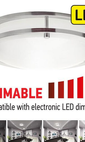 "InHome LED Flush Mount DR series 14"" 21 watts"