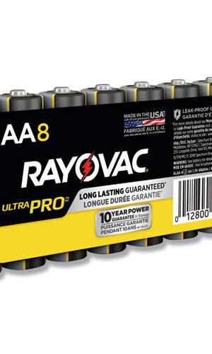 RAYOVAC-Alkaline AA Size Shrink 8 pack