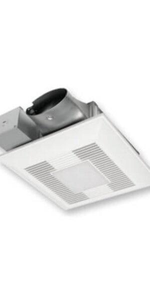 WhisperGreen Select™ DC 50-80-100 CFM Pick-A-Flow Ceiling Mount Fan/Light