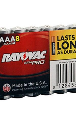 RAYOVAC-Alkaline AAA Size Shrink 8 pack