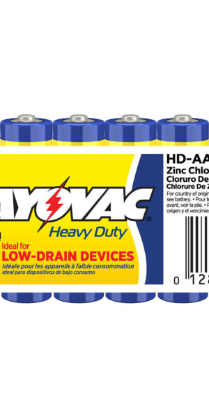 RAYOVAC-Heavy Duty AA Size Shrink 8 pack