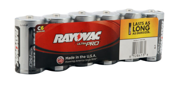 RAYOVAC-Alkaline C Size Shrink 6 pack