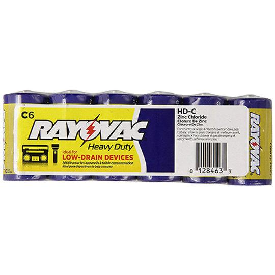 RAYOVAC-Heavy Duty C Size Shrink 6 pack