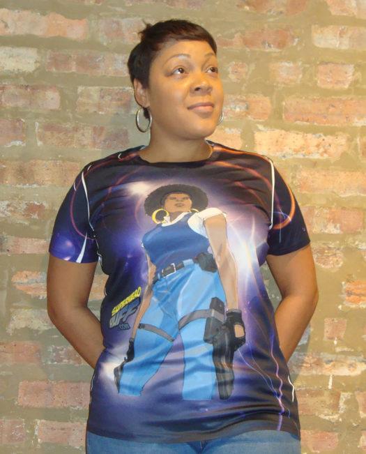 SUper Hero Huff Purple Stand T-Shirt